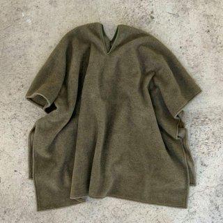 【40%OFF!】MOUN TEN. / meltonfleece poncho / khaki / size M