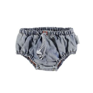【40%OFF!】piupiuchick / Baby shorties / washed light blue denim