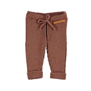 【40%OFF!】piupiuchick / Ribbed knit pants / pecan nut