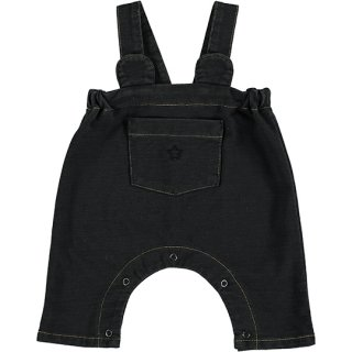 【40%OFF!】tocoto vintage / Ears denim dungaree with front pocket / BLACK