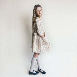 AS WE GROW / POCKET DRESS / Yellow Stripes