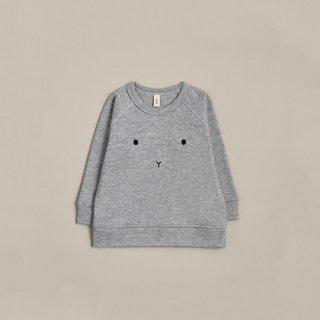 organic zoo / Grey Melange Bunny Baby Sweatshirt