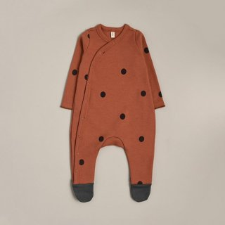 organic zoo / Earth Dots Suit with contrast feet