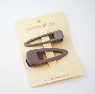 GRECH & Co. / Matte Clips Set of 2 / stone