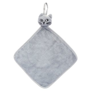 松尾ミユキ / Cat Face Hand towel / Gray