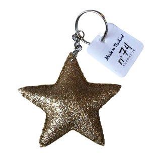 Numero74 / Glitter Star Key Chain / gold