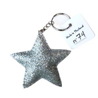 Numero74 / Glitter Star Key Chain / silver