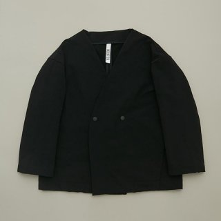 MOUN TEN. / double cloth stretch jacket / black