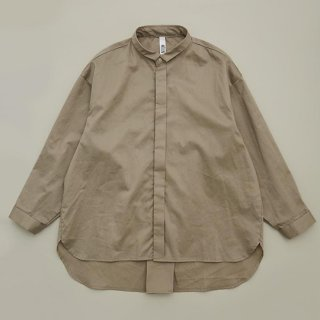 MOUN TEN. / 80/1 washer big shirts / greige