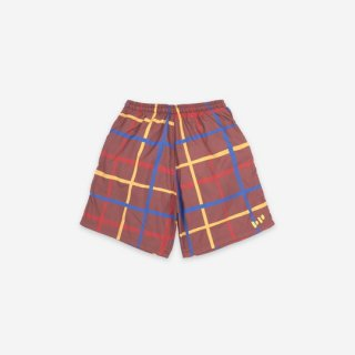 BOBO CHOSES / Multicolor Checkered Swim Bermuda / KID