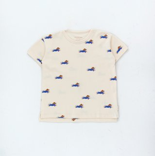 【再入荷】TINYCOTTONS / DOGGY PADDLE TEE / light cream/iris blue