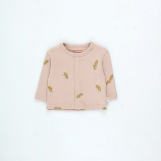 TINYCOTTONS / TWIGS BABY CARDIGAN / dusty pink/green