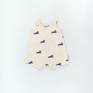 【再入荷】TINYCOTTONS / DOGGY PADDLE ONE-PIECE / light cream/iris blue