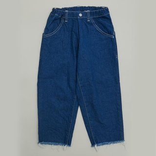 MOUN TEN. / wide cropped denim / blue