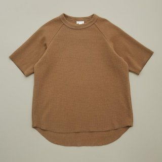 MOUN TEN. / stretch thermal T-shirts / beige