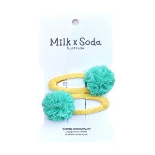 Milk x Soda / Cassia Mini PomPom Hair Clips / GRxYE