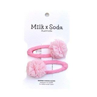 Milk x Soda / Cassia Mini PomPom Hair Clips / PKxPK