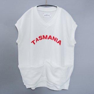 michirico / TASMANIA Sleeveless tops / White & Red logo