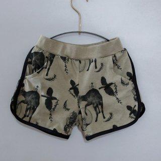 michirico / Flora and fauna short pants / Light Olive