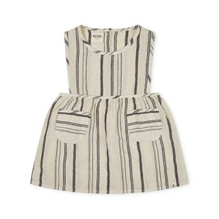 MATONA / NORA PINAFORE DRESS / Beige/Striped