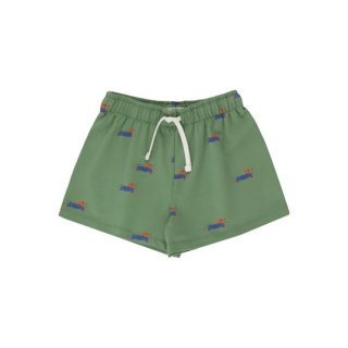 TINYCOTTONS / DOGGY PADDLE SHORT / green/iris blue