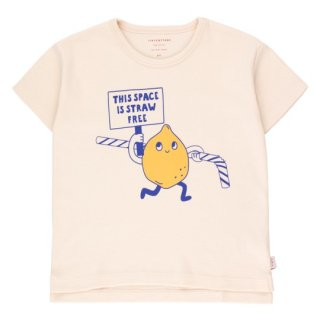 TINYCOTTONS / TINY ACTIVIST TEE / light cream/yellow