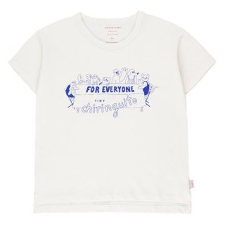 TINYCOTTONS / FOR EVERYONE TEE / off-white/iris blue