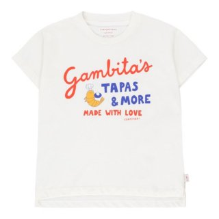 TINYCOTTONS / GAMBITA'S GRAPHIC TEE / off-white/red