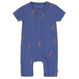 TINYCOTTONS / JOGGING ONE-PIECE / iris blue/cinnamon