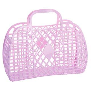 Sunjellies / Retro Basket LARGE / Hot Pink