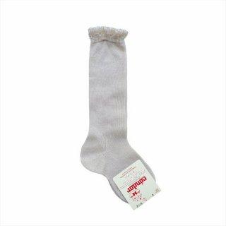 condor / Knee high socks with openwork cuff / 304 / Linen