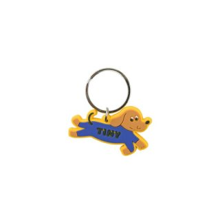 TINYCOTTONS / DOGGY PADDLE KEY CHAIN / iris blue