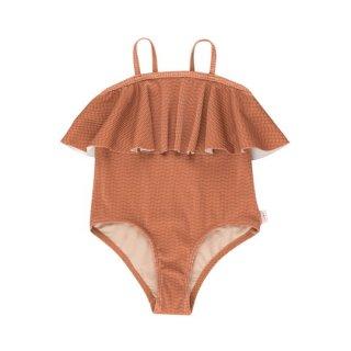 【30%OFF!】TINYCOTTONS / WAVES STRAPS SWIMSUIT / cinnamon/iris blue / swimwear