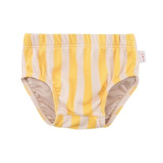 TINYCOTTONS / BIG STRIPES BLOOMER / yellow/light cream / swimwear