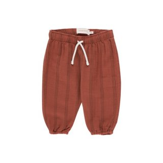 TINYCOTTONS / STRIPES BABY PANT / maroon/ink blue