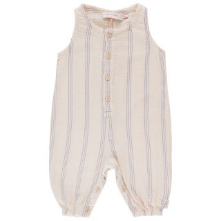 TINYCOTTONS / STRIPES RELAXED ONE-PIECE / light cream/iris blue