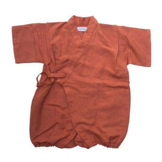 chocolatesoup / LINEN JINBEI ROMPERS / TERRA COTTA