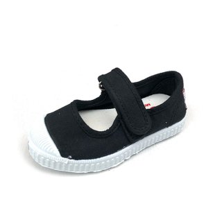 CIENTA / black / dyed / Velcro One strap shoes