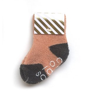 chocolatesoup / BABY PILE SOX / CORAL PINK
