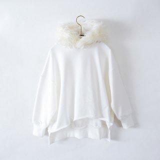 michirico / Fur hoodie / White / Kids