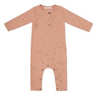 Phil&Phae / Rib henley jumpsuit l/s dots / warming peach