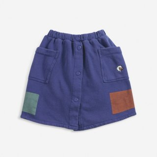 BOBO CHOSES / Geometric fleece buttoned skirt / KID