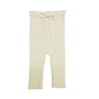 BaYiRi / Ribbed Pants - Coffee Seed Pants / MILK