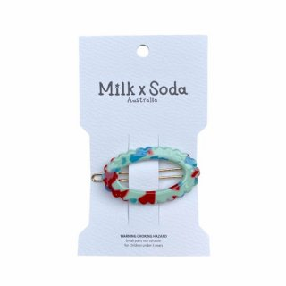 Milk x Soda / JADE HAIR CLIP / GREEN MARBLE