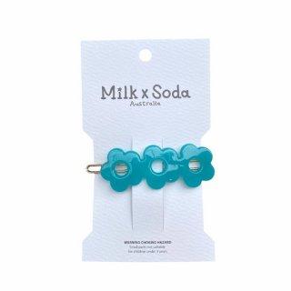 Milk x Soda / FLEUR HAIR CLIP / BLUE