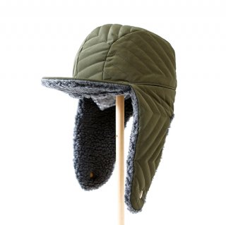 michirico / Quilting flying cap / Olive / Kids