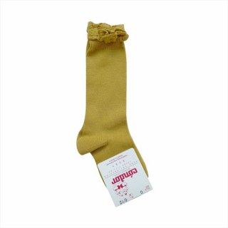 【新入荷】condor / Knee HighSocks LaceCuff / 629 / Mustard
