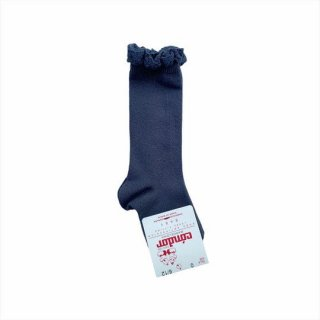 【再入荷】condor / Knee HighSocks LaceCuff / 257 / Coal