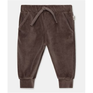 My Little Cozmo / organic baby velour pants / taupe / BABY