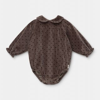 My Little Cozmo / organic baby romper dots / taupe / BABY